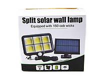 Уличный фонарь с датчиком движения на выносной солнечной батарее LF-1723 Split Solar Wall Lamp В подарок solar, фото 3