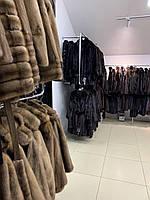 Жіночий норковий кожушок поперечка коричневого кольору, розмір 46 48 M - шоурум в Харкові