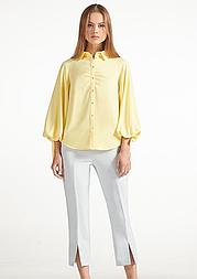 Желтая блуза с необычными рукавами Lesya Сафия.