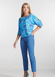 Елегантна блакитна блуза з квітковим принтом Lesya Кейт 2