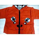 Парка для мальчика красная Мишка Рост: 100-120 см, фото 3