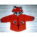 Парка для мальчика красная Мишка Рост: 100-120 см, фото 4