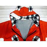 Парка для мальчика красная Мишка Рост: 100-120 см, фото 5