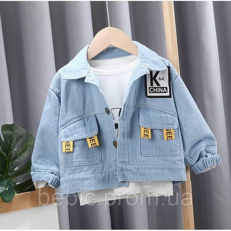 Джинсовая куртка K&K Рост:100-105 см
