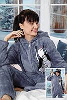 Серая женская слитная пижама комбинезон (кигуруми) Турция, фото 1