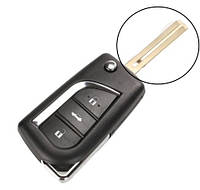 Корпус ключа Toyota Corolla 3 кнопки новий тип лезо TOY48, фото 1
