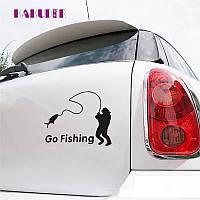 Винил виніл наклейка шильд значек эмблема украшение шильдик для автомобиля авто РЫБАК go fishing
