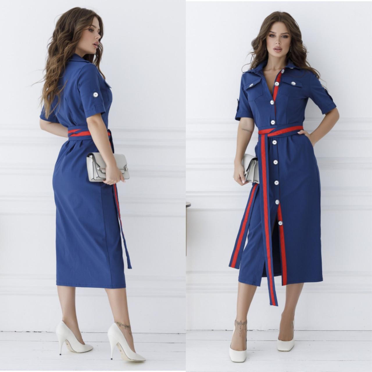 Облегающее платье из джинс-котона 35-344