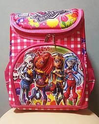 Рюкзак школьный ортопедический каркасный Monster High для девочек 1 2 3 4 класс