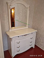 Белый комод Джаконда с зеркалом