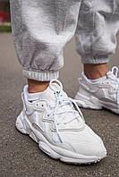 Женские кроссовки Adidas Ozweego Reflective White / Адидас Озвиго Рефлективные Белые
