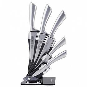Набор ножей Kamille 6 предметов из нержавеющей стали на подставке КМ-5131