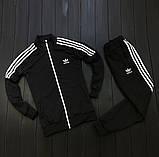 Мужской весенний костюм Adidas (black/white), спортивный костюм Адидас (Реплика ААА), фото 2