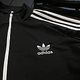 Мужской весенний костюм Adidas (black/white), спортивный костюм Адидас (Реплика ААА), фото 4