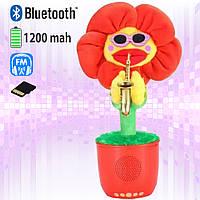 Портативная Bluetooth колонка c FM-радио Dancing Flower Ukc G26 танцующий цветок Красная, фото 1