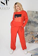 Жіночий супер-стильний спортивний костюм оверсайз розміри: 62-64, фото 2