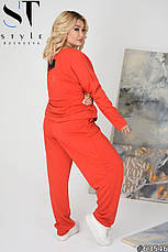 Жіночий супер-стильний спортивний костюм оверсайз розміри: 62-64, фото 3