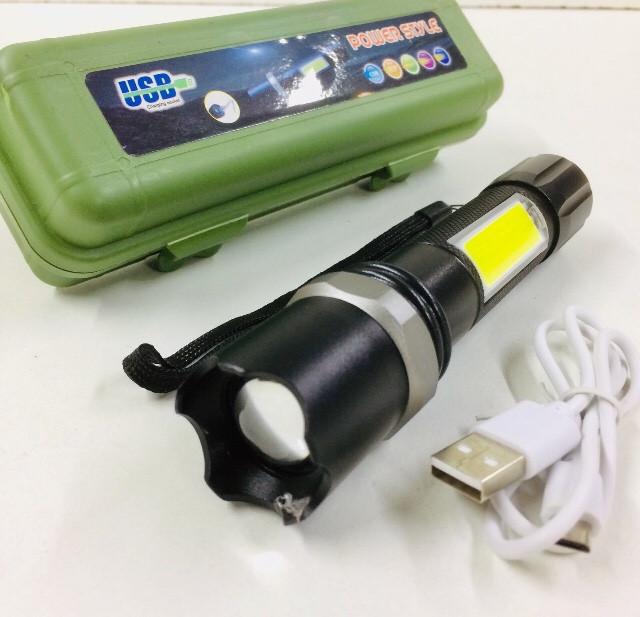 Фонарик police BL-9626 XPE,zoom,ЗУ USB (120 шт/ящ)