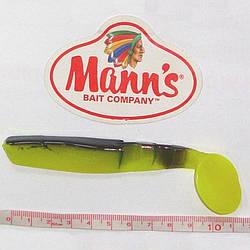 Виброхвост Mann's Predator Maximus 4 M-077 115mm салатовый с черной спиной (BB-FCH) 1шт./уп