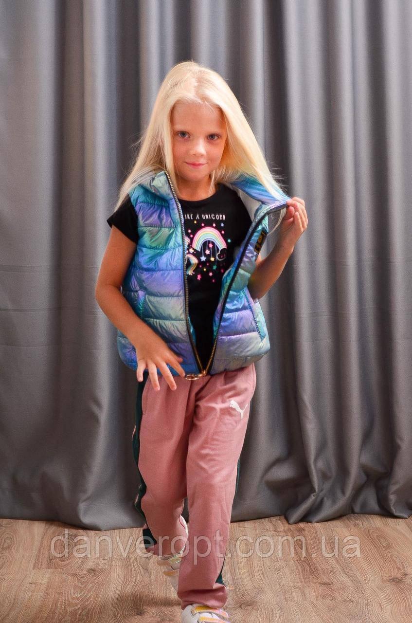 Жилет подростковый стильный INSTAGRAM на девочку размер 116-140 купить оптом со склада 7км Одесса