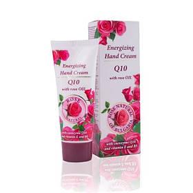Обновляющий крем для рук с коэнзимом Q10 и витаминами Е и В5 Rose Natural of Bulgaria