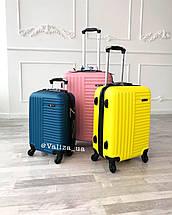 Пластиковый чемодан синий маленький ручная кладь, фото 2
