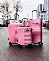Пластиковый чемодан синий маленький ручная кладь, фото 3