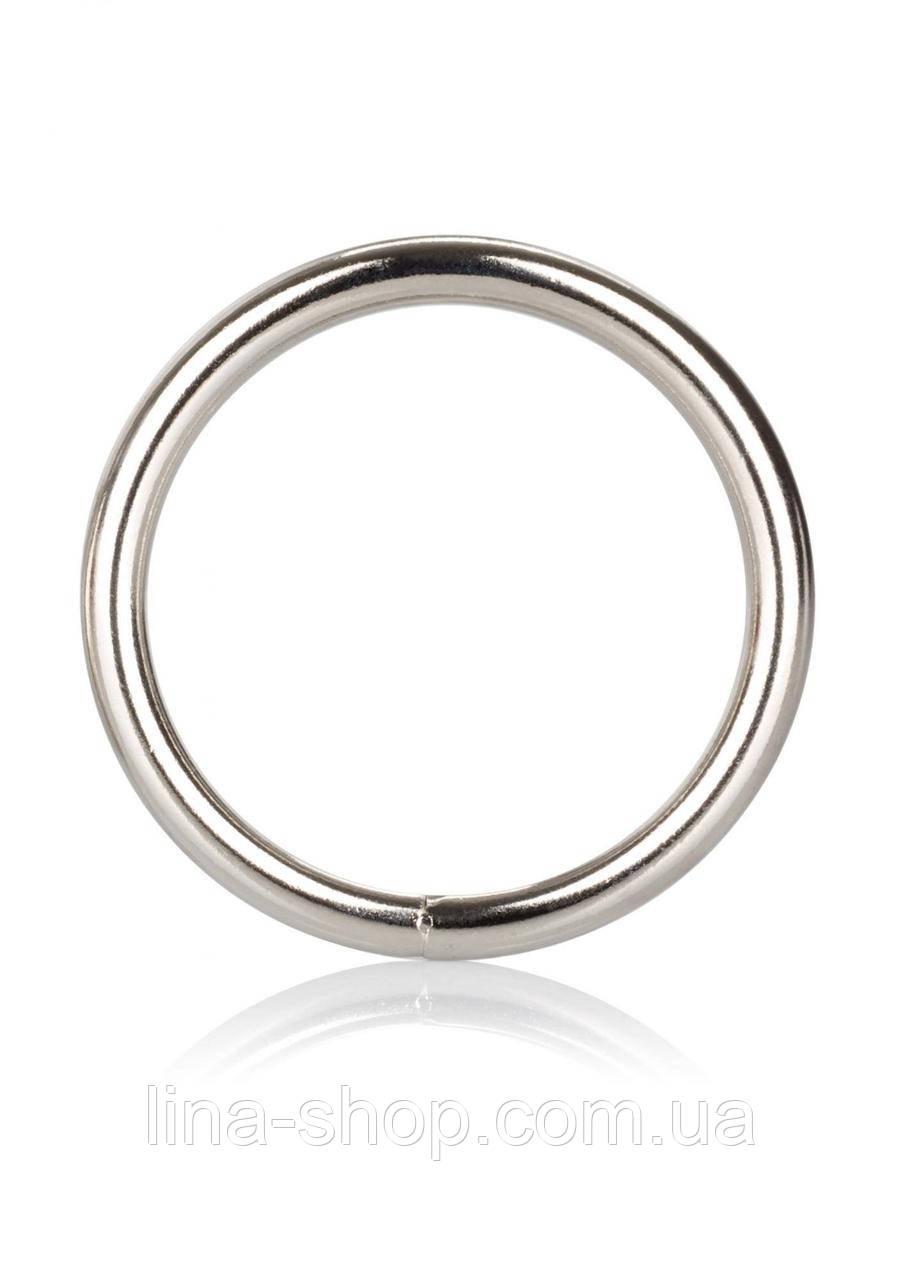 CalExotics Silver Ring Large - металлическое эрекционное кольцо, 5 см
