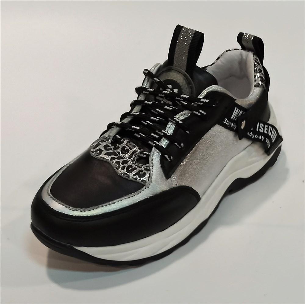 Жіночі кросівки чорні з сріблом, Arcoboletto (код 1065) розміри: 35-41