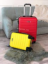 Пластиковый чемодан маленький голубой  для ручной клади, фото 2