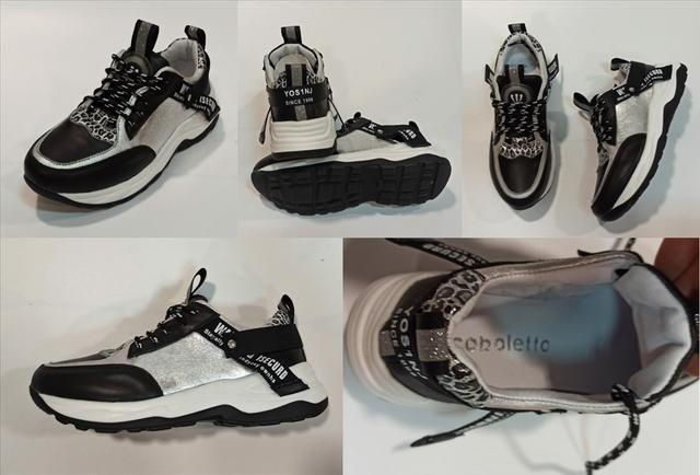 Жіночі кросівки чорні з сріблом, Arcoboletto фото