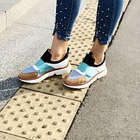 Кросівки жіночі літні різнокольорові сітка