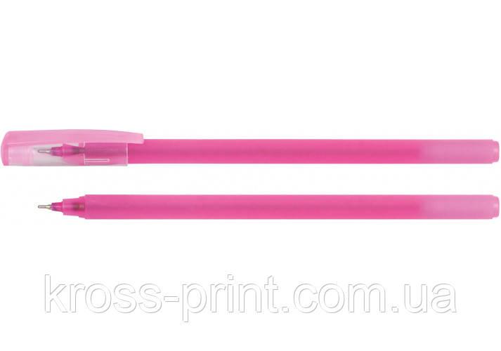 Ручка масляна OPTIMA FLAME 0,7 мм. Корпус асорті, пише синім
