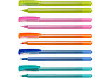 Ручка масляна OPTIMA FLAME 0,7 мм. Корпус асорті, пише синім, фото 2