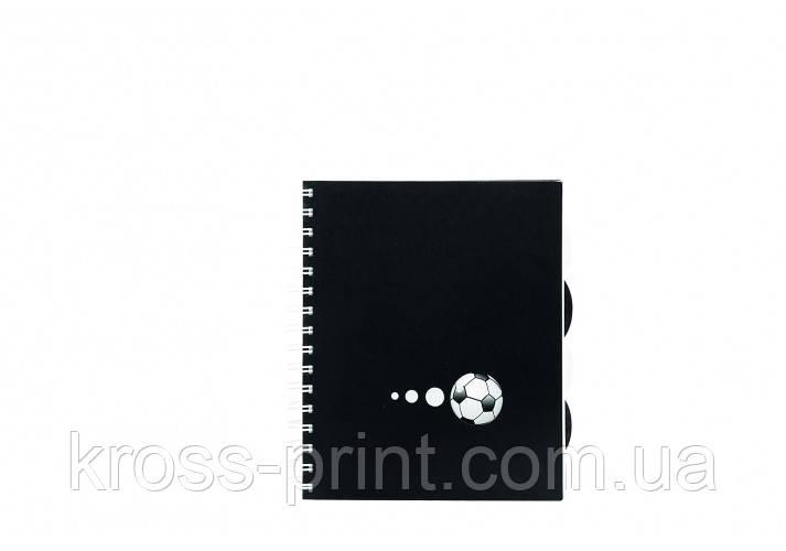 """Блокнот """"Футбол"""" В5, пластикова обкладинка з вирубкою та паперової вставкою, евроспіраль, 150 арк"""