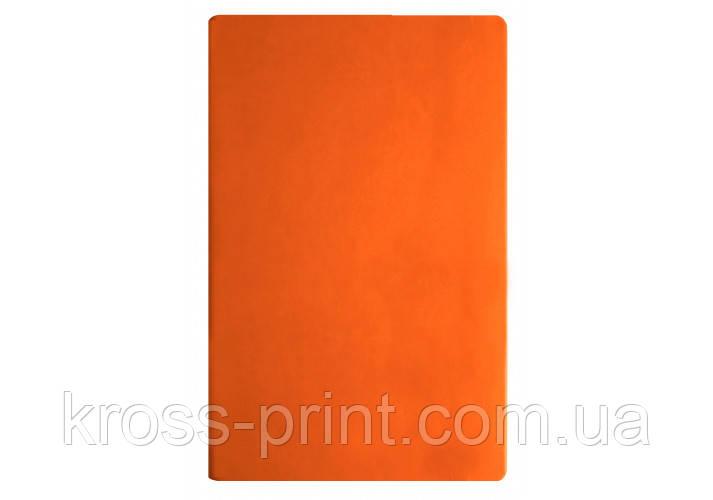 Діловий записник А5, Vivella, тверда обкладинка, білий нелінований блок, помаранчевий