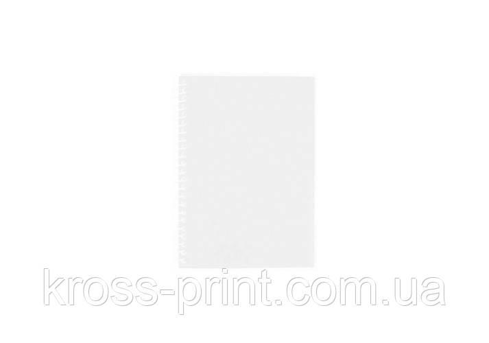 Блокнот А6, 80 арк.,пластикова обкладинка,бічна спіраль,білий