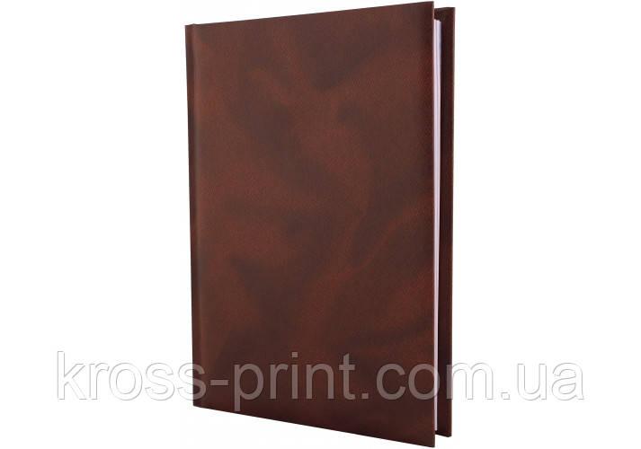 Щоденник недатований, OFFICE, коричневий, А5, клітинка