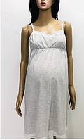 Женская ночная рубашка с кружевом на бретелях для беременных и кормлящих, хлопок