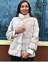 Норкова шуба 70 см,автоледі колір білий, фото 1