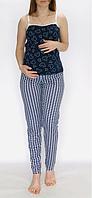 Домашний женский комплект, пижама для беременных и кормящих мам, размер 44-50 хлопок