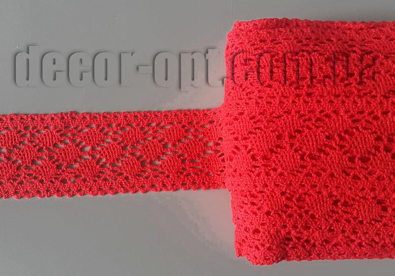 Кружево натур. красное 4,5см/15ярд S190140