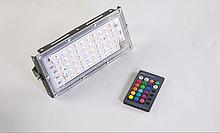 """Світлодіодний прожектор 220V 50W RGB (різнокольоровий) SMD Slim Line"""""""