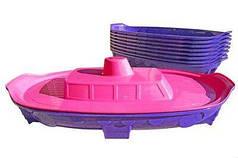 """Пісочниця """"Кораблик"""" рожево-фіолетовий 03355/2"""