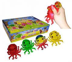 """Набор антистресс игрушек """"Осьминожка с орбизами"""" 12 штук"""