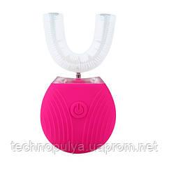 Ультразвуковая электрическая зубная щетка с автоматической стерилизацией BeWhite Ярко розовая (192)