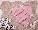 Парка детская зимняя однотонная розовая SKL11-260880, фото 2