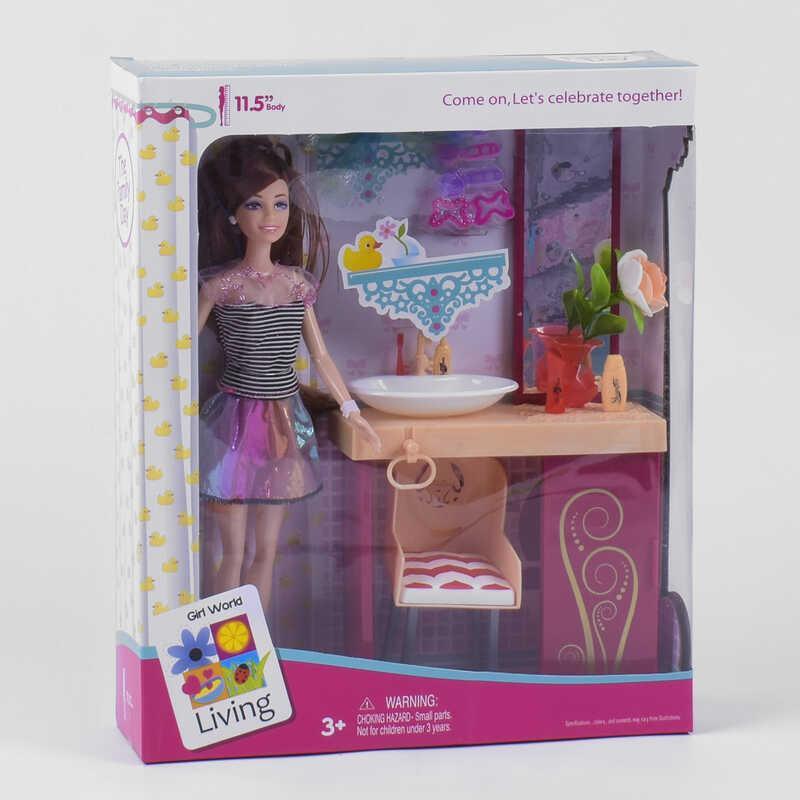 Кукла «Ванная комната» JX 200-51 (36/2) в коробке