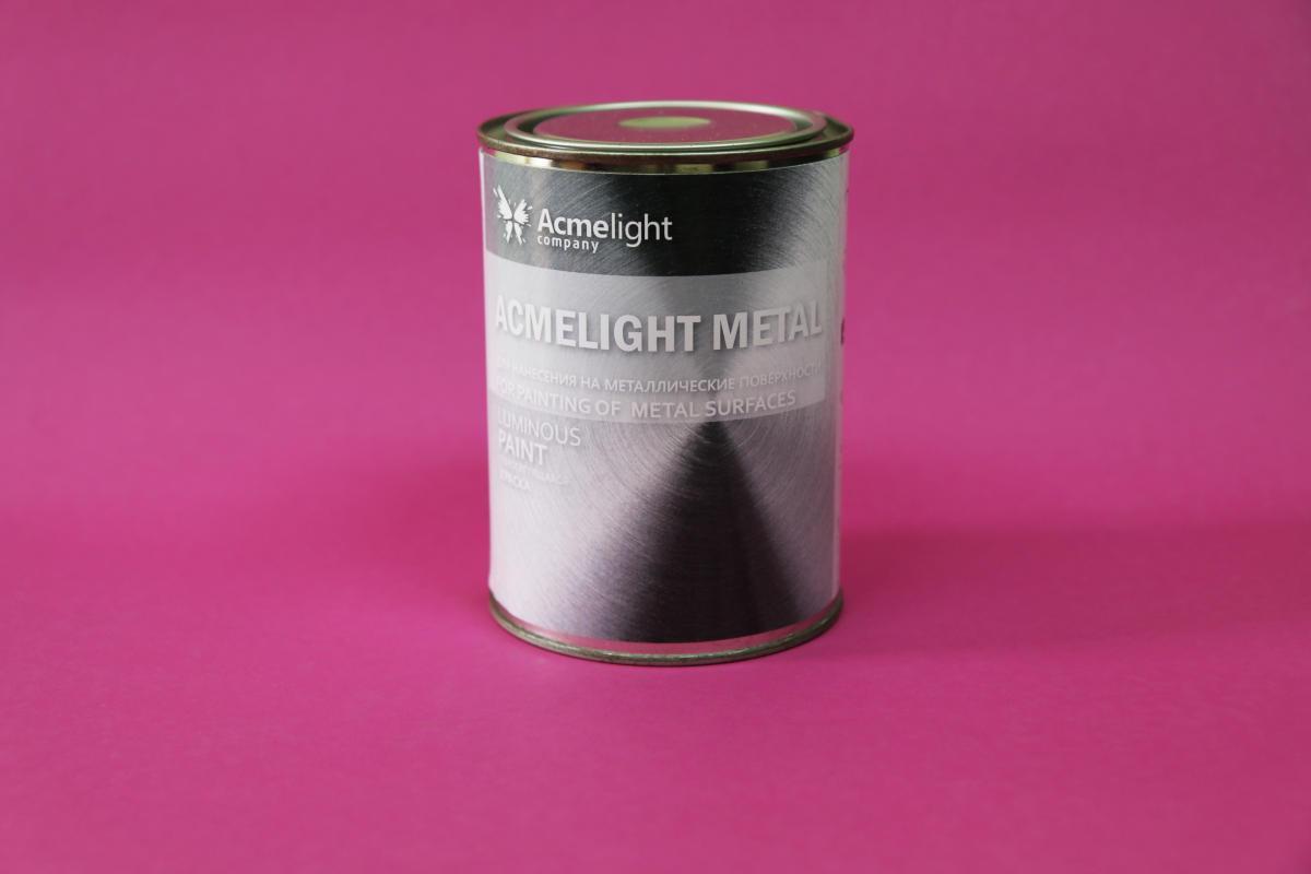 Світна фарба по металу AcmeLight Metal бежева із зеленим світінням 1,5 л