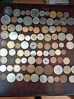 Гора иностранных монет! 90 шт. БЕЗ ПОВТОРА (Лот 2)